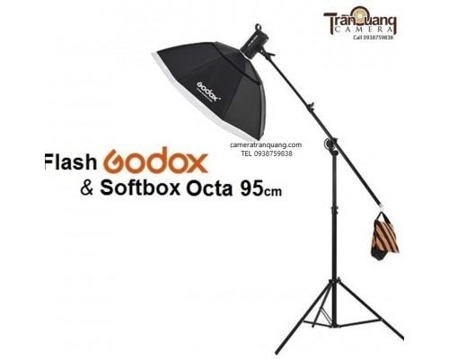 Godox Octa 95cm và tay treo
