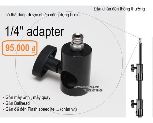 Adapter 1/4 đầu chân đèn