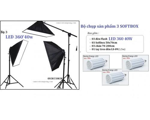 Bộ chụp sản phẩm 3 softbox