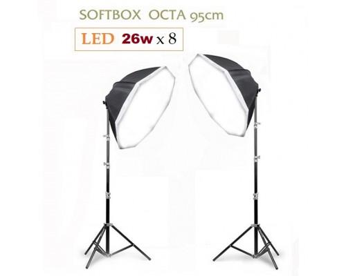 Bộ LED 26w & 40w softbox Octa