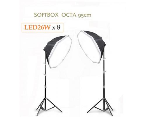 Bộ LED 3 softbox OCTA 95cm