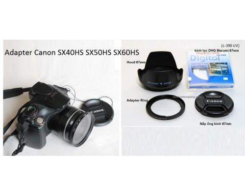 Adapter kính lọc cho SX50HS SX60HS SX70HS