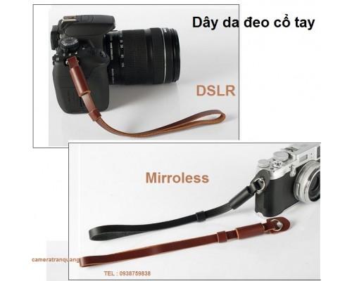 Dây da đeo cổ tay DSLR & Mirroless