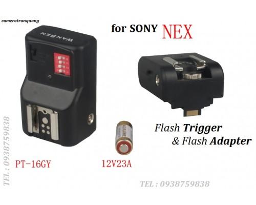 Flash trigger Sony NEX (bộ)