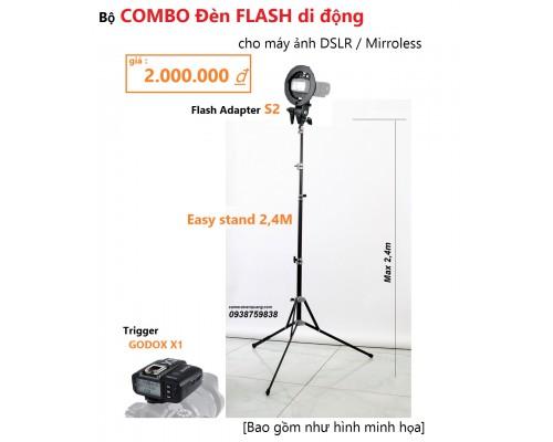 Bộ chân đèn Flash di động