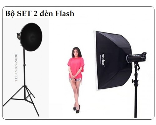 Godox SK300  beautydish & softbox