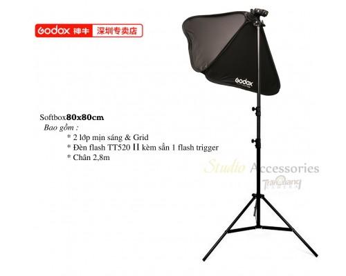 Bộ đèn Softbox Godox Grid 80x80cm
