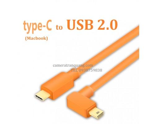 Type C to Mini USB 2.0 USB cable