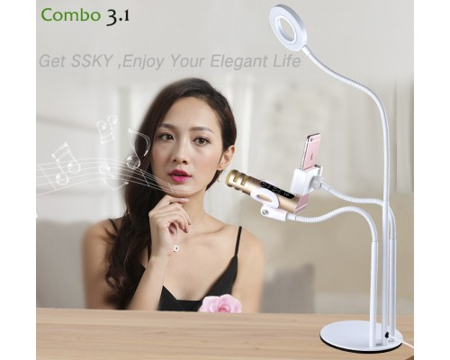 Combo 3.1   LED- Phoneclip & Microphone holder