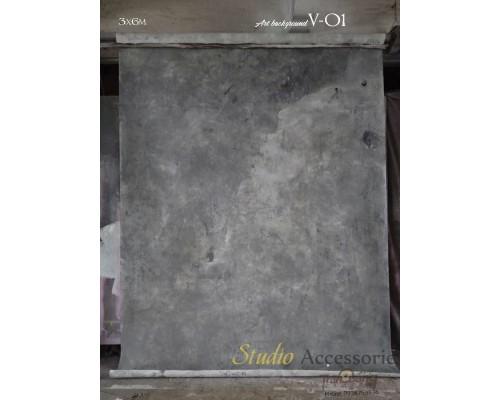Art màu Xám V-01 3x6m