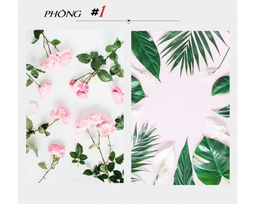Mẫu số 1 - Phông 3D nền Hoa-lá